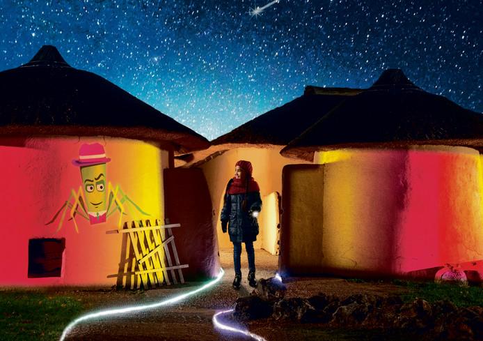 Lichtavonden in het Afrika Museum.