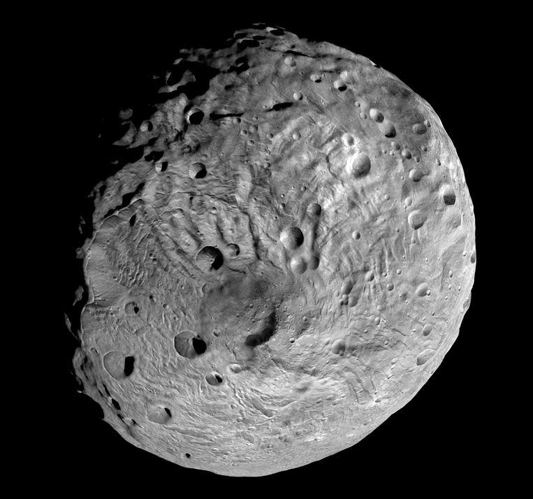 Vesta, de op twee na grootste planetoïde in de hoofdring. Beeld AP
