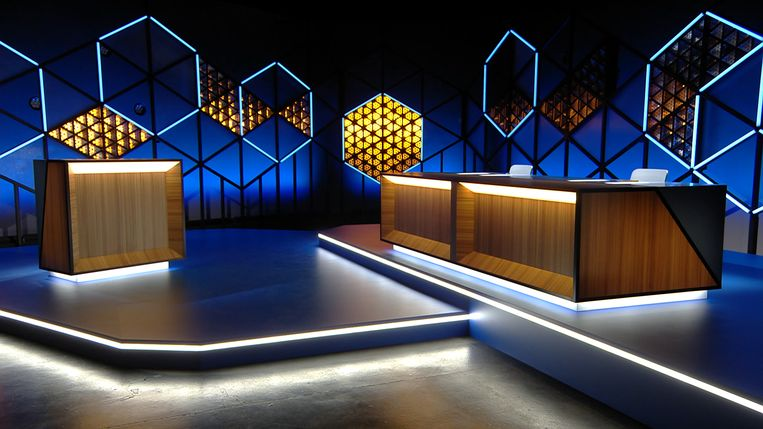 Ook 'Blokken' krijgt een nieuw decor. Beeld VRT