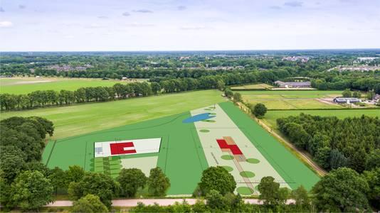 venkavel boskavel luchtfoto nieuwe landgoed Leijvennen