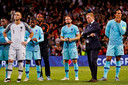 De spelers van Oranje na de verloren finale in de Nations League.