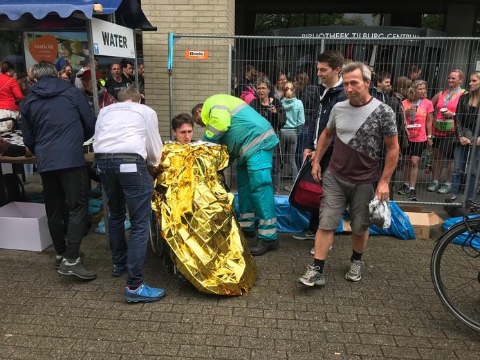 Jop van der Steen zakte na de finish in elkaar.