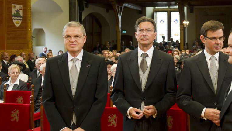 Hirsch Ballin naast partijgenoot Maxime Verhagen op Prinsjesdag 2009. Beeld ANP