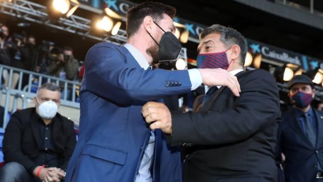 Laporta wil Messi met levenslang contract aan Barcelona binden