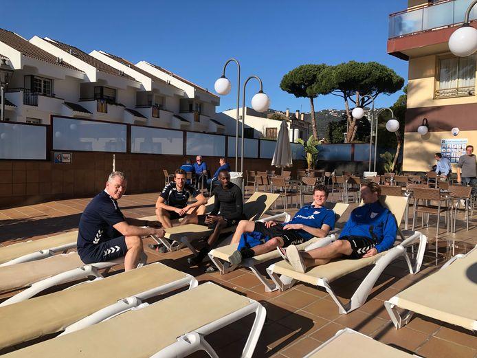 Het was 'afzien' voor de selectie van FC Horst, op het trainingskamp in Spanje.