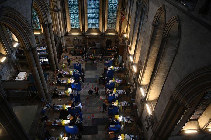 De kathedraal van Salisbury in Zuid-Engeland werd omgetoverd tot priklocatie.