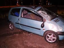 Automobilist slaat over de kop in Haaksbergen: één gewonde