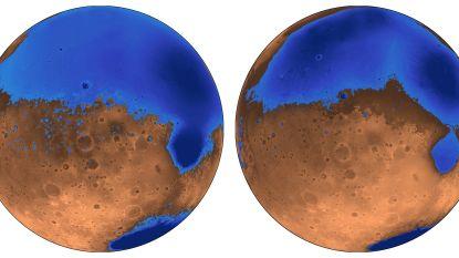 Oceanen op Mars werden volgens nieuwe studie 300 miljoen jaar eerder gevormd dan gedacht en zouden niet zo diep geweest zijn