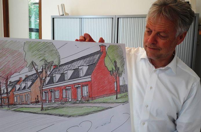 Directeur/bestuurder Marcel Timmerman van Wetland Wonen, die 147 woningen overneemt van Woonconcept.