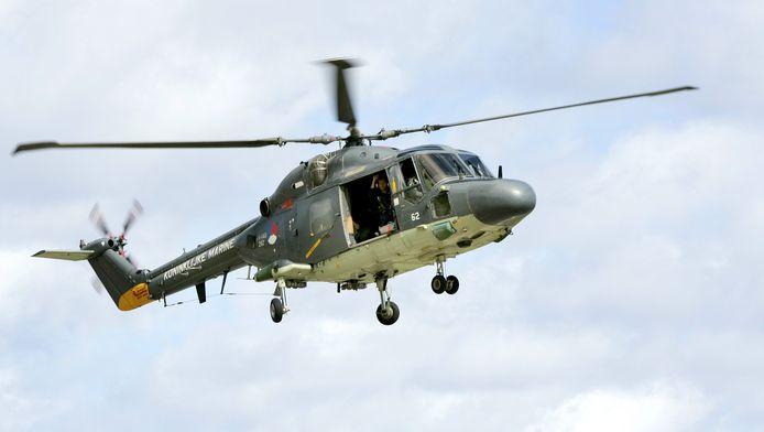 Een Lynx-helikopter van de Koninklijke Marine.