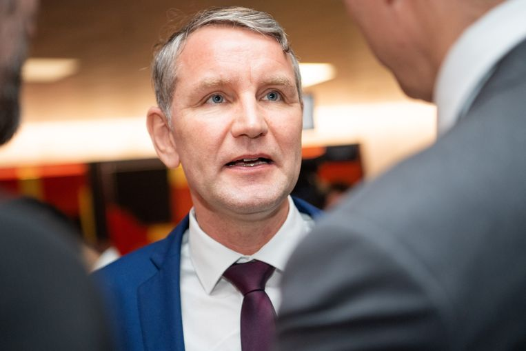 Björn Höcke, AfD-fractieder in het deelstaatparlement van Thüringen. Beeld DPA