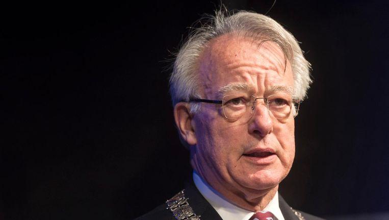 Waarnemer Jozias van Aartsen heeft van meet af aan aangegeven slechts tijdelijk naar Amsterdam te komen en zo snel mogelijk een nieuwe burgemeester te willen. Beeld anp