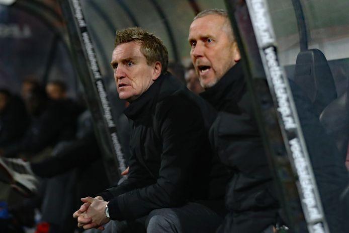 Adrie Bogers (rechts) wordt de assistent-trainer van Ruud Brood.