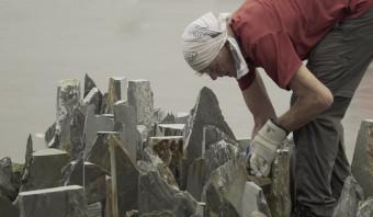 Kunstenaar Richard Long gebruikt de natuur als atelier