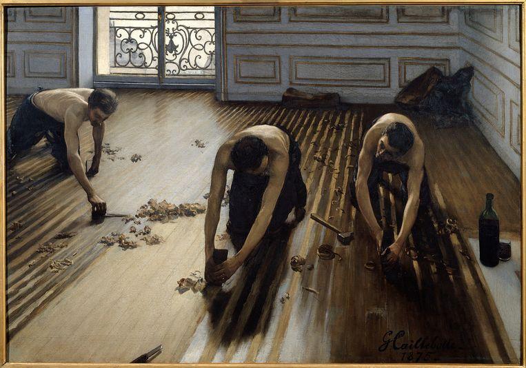 De parketschavers, 1875.  Beeld Getty