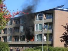 Flat in Nijkerk loopt forse schade op door brand