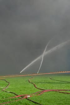 Asbest in de rookpluim van grote brand in Erichem