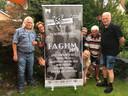 De Hengelose band Faghm is even terug van weggeweest, met (vanaf links):In  Pel Kotkamp, Aty Gelink (boven), Anette Smit (beneden), Erik Schott (boven), Maria van Essen, Hans Kock, Gerard Schouwink.