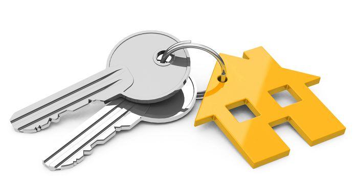 Sleutels, sleutelbos nieuwe woning