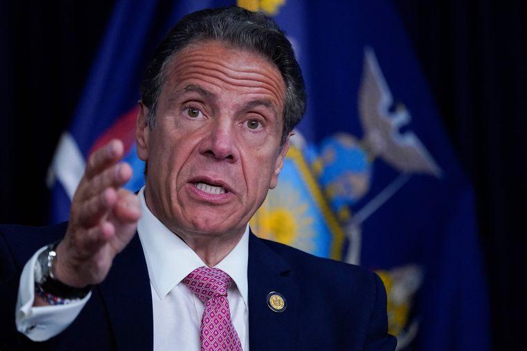 De gouverneur van de staat New York Andrew Cuomo ontkent dat hij zich schuldig zou hebben gemaakt aan seksueel ongewenst gedrag. Beeld AFP
