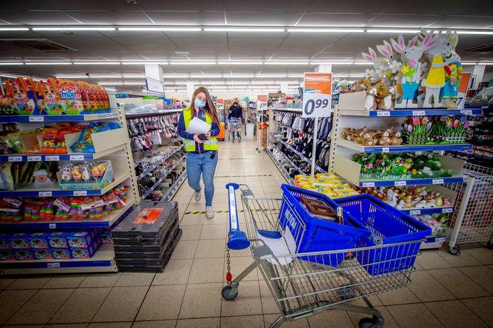 Bij de Action in Wijchen kunnen mensen tien minuten shoppen.