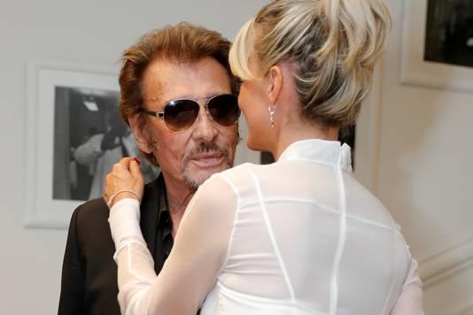 Johnny en zijn vrouw Laeticia.