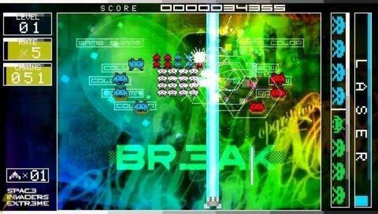 Space Invaders Extreme: een mogelijke klassieker op Nintendo DS. Beeld UNKNOWN