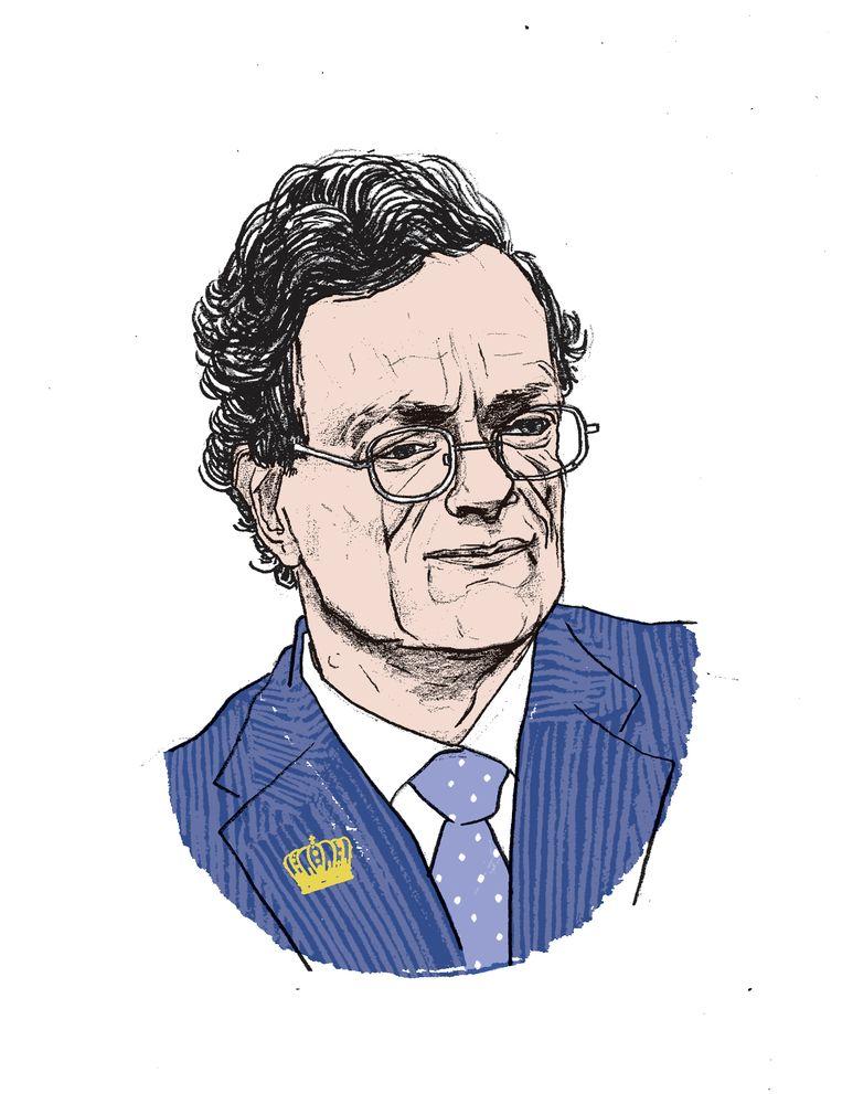 Royaltywatcher Mark Van den Wijngaert : 'De koning heeft met Vincent Houssiau nu een kabinetschef die dichter staat bij de politieke werkelijkheid.' Beeld Gijs Kast