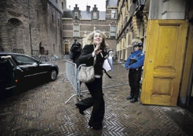 Melanie Schultz van Haegen, een van de drie vrouwen in kabinet. ( FOTO ANP) Beeld ANP