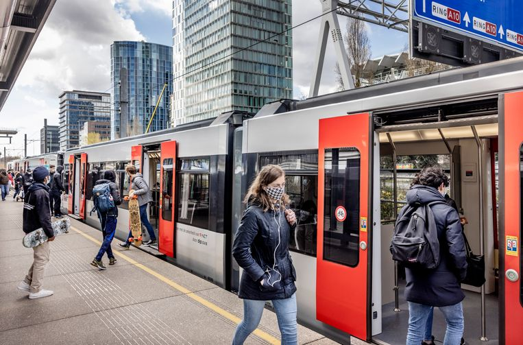 Metrostation Zuid, april 2021. Beeld Jean-Pierre Jans