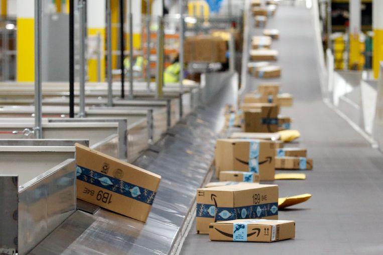 Amazon-pakketjes.  Beeld AP