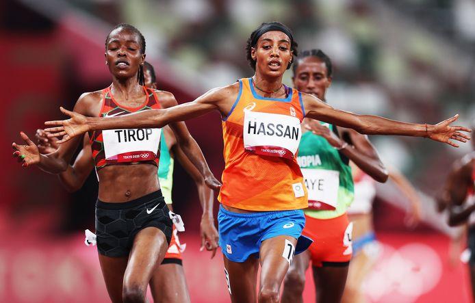 Sifan Hassan loopt de 1.500 en 5.000 meter.