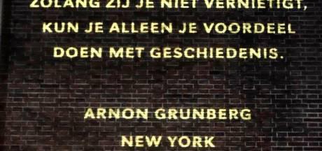 Muur van Veerkracht op gevel van boekhandel Broekhuis in Enschede  gaat in zomerslaap
