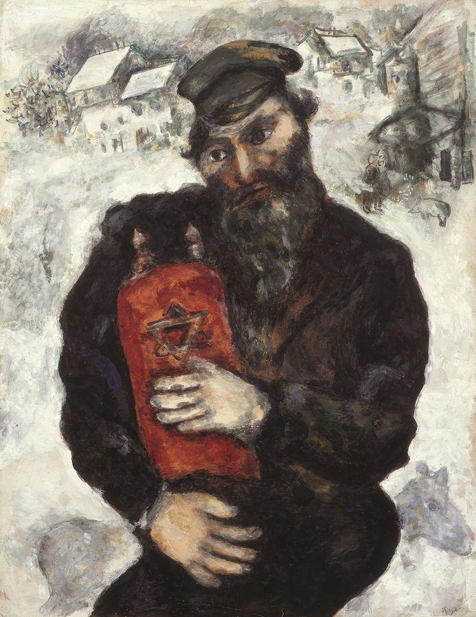 Marc Chagall, Joodse man met Thora ca 1925-1930, Tel Aviv Museum of Arts