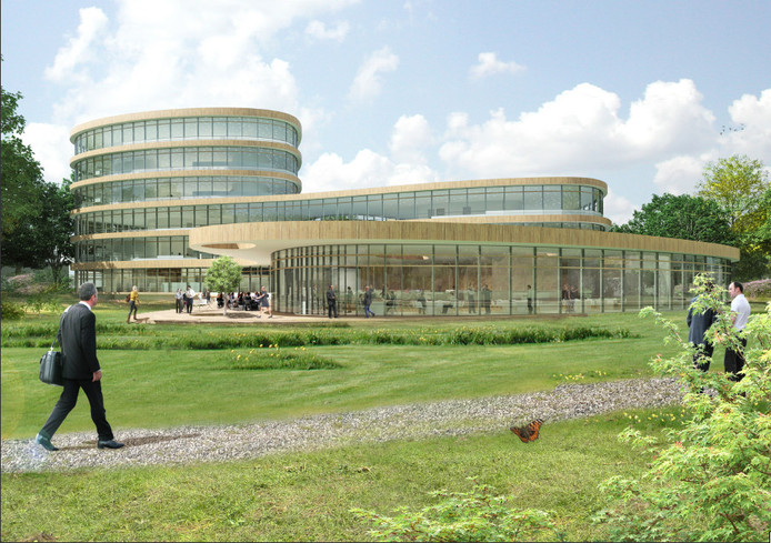 Het ontwerp van het nieuwe gebouw.