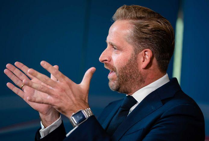 Demissionair Minister Hugo de Jonge van Volksgezondheid, Welzijn en Sport (CDA) na afloop  van de wekelijkse ministerraad.