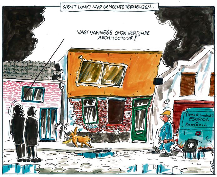 Over de ruzie om een merkwaardig verbouwd pand in Terneuzen.