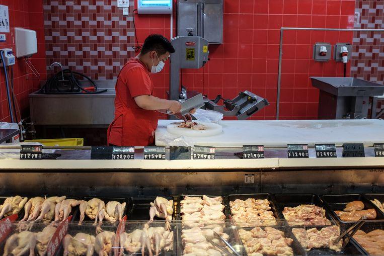 Het kippenvlees raakte waarschijnlijk bij het verpakken of bij de slacht besmet.  Beeld Hollandse Hoogte / EPA