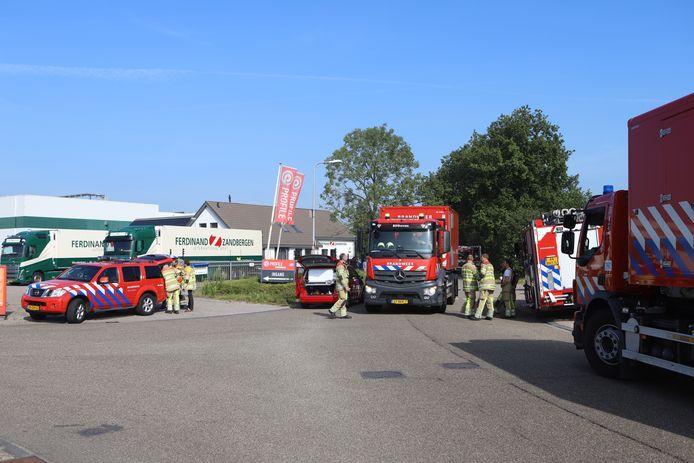 Tal van brandweerlieden waren woensdagochtend bij het bedrijfspand in Woudenberg aanwezig in verband met een ammoniaklekkage.