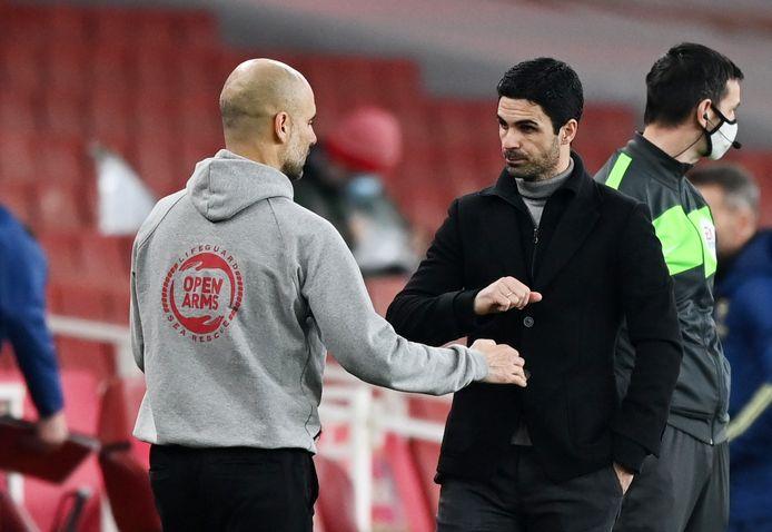Guardiola won met het kleinste verschil van zijn vroegere assistent-trainer Arteta.