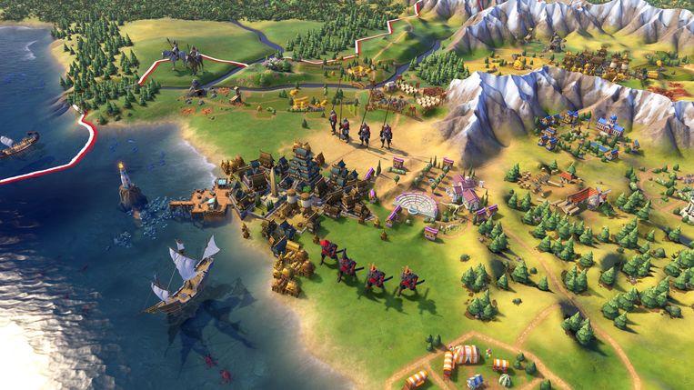 Een beeld uit 'Civilization VI'. Beeld Firaxis Games