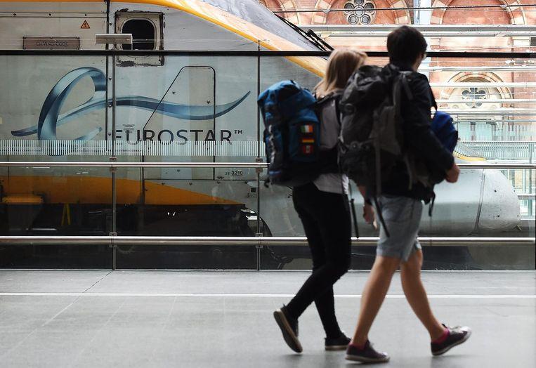 De Eurostar in Londen. Beeld EPA