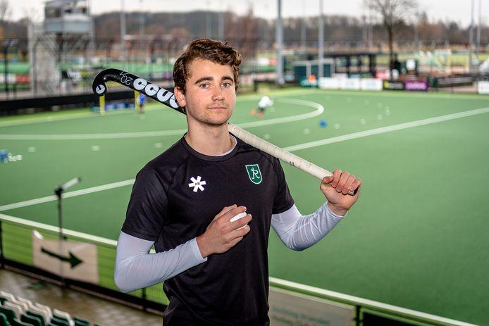Guus Jansen uit Velp staat zondag met HC Rotterdam tegenover Den Bosch in de hoofdklasse.