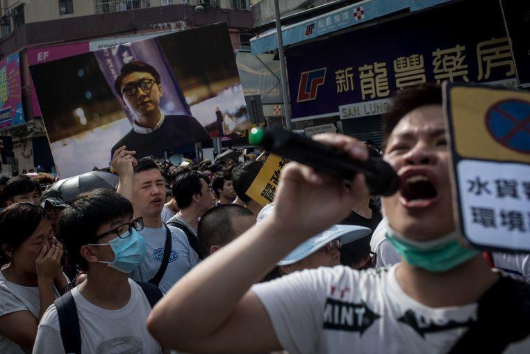 Demonstranten protesteren in Hongkong. Beeld Getty Images
