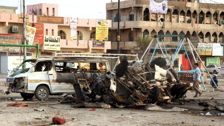 Vorige week vond ook al een aanslag plaats in Sadr City Beeld anp