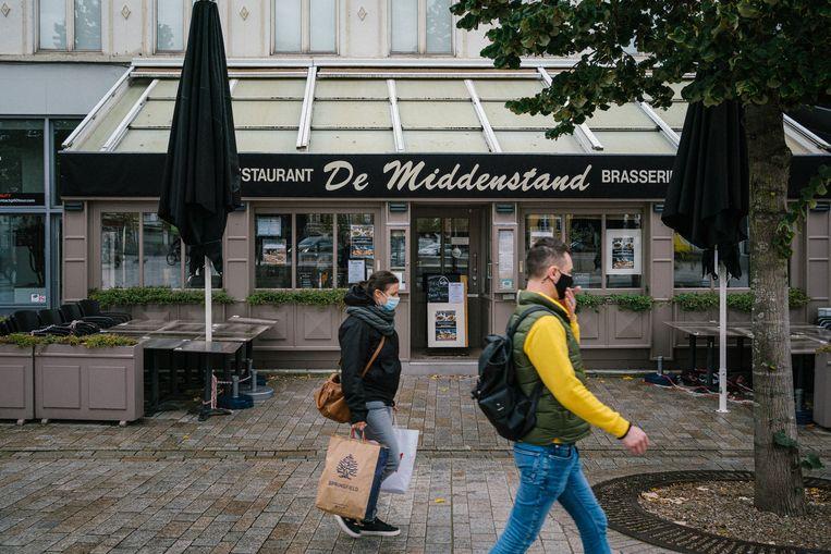Restaurants, zoals hier in Brugge, krijgen steun van de overheid tijdens de coronacrisis. Beeld Wouter Van Vooren