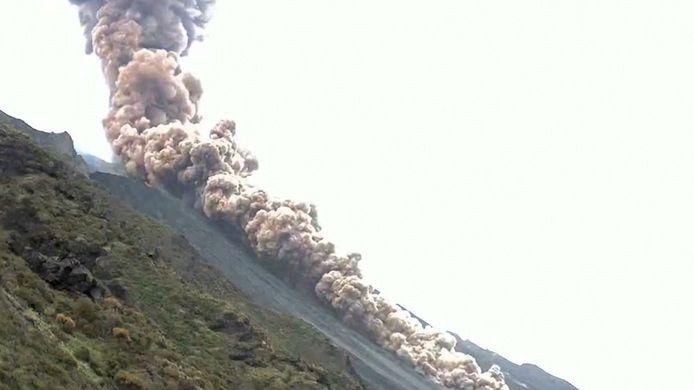 Vulkaan Stromboli barst uit in Italië.