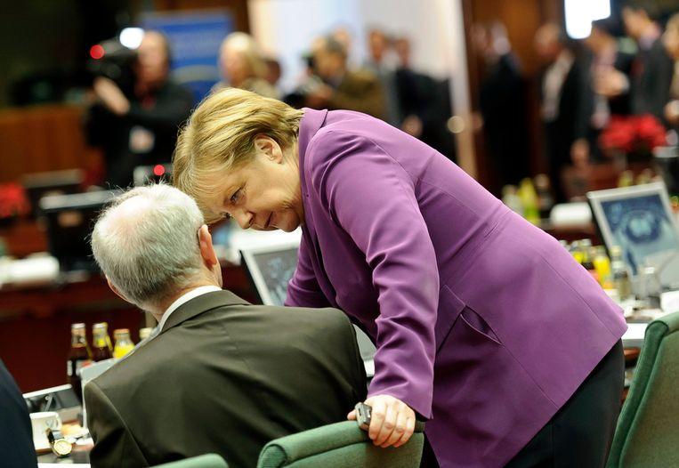 Herman Van Rompuy, voormalig EU-president, vindt een van de geheimen van Merkel dat ze goed kan luisteren en daarin geen onderscheid maakt tussen regeringsleiders van kleine of grote landen. Beeld Getty