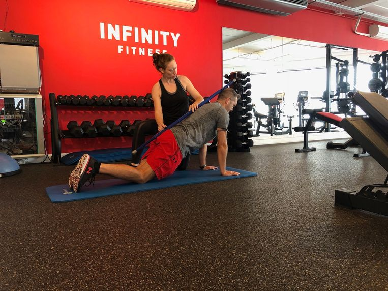 Charlotte Claeys van Infinity Fitness.