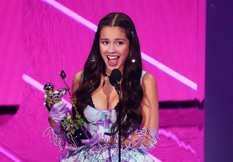 Olivia Rodrigo werd 'Beste Nieuwkomer'. Beeld Charles Sykes/Invision/AP
